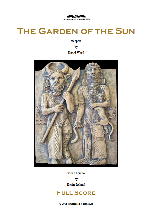 David Ward - The Garden of the Sun - Full Score Title Page